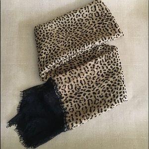 Betsey Johnson Cheetah Print W/ Lace Scarf